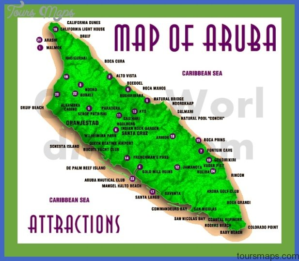 aruba map with attractions Congo, Democratic Republic Map Tourist Attractions