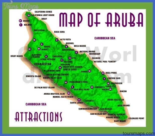 aruba map with attractions Congo, Democratic Republic Map Tourist Attractions