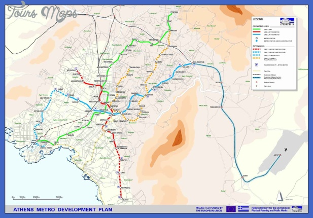 athens metro map 1 Athens Metro Map