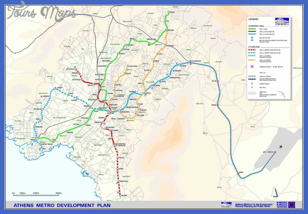 athens metro map 2 Greece Metro Map