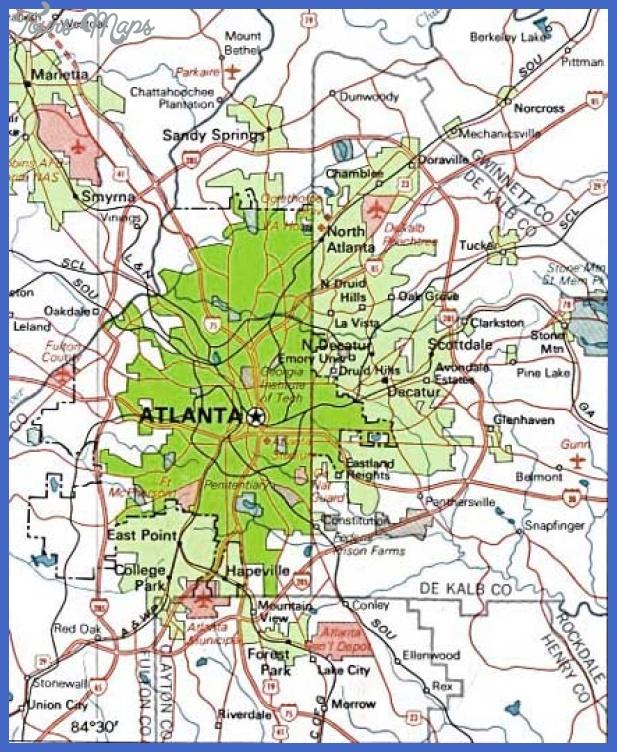 atlanta map 1 Atlanta Metro Map