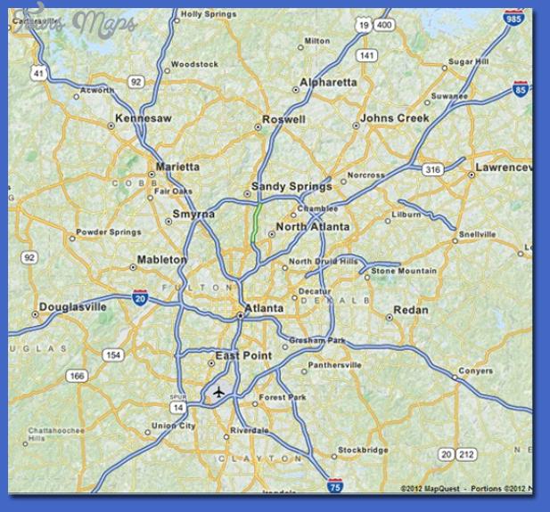atlanta metro map  6 Atlanta Metro Map