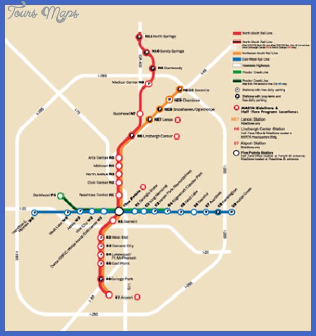 Atlanta Metro By Fpdieulois Metro Map Rer Plan Carte