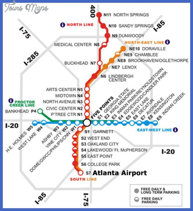 atlanta subway map  0 Atlanta Subway Map