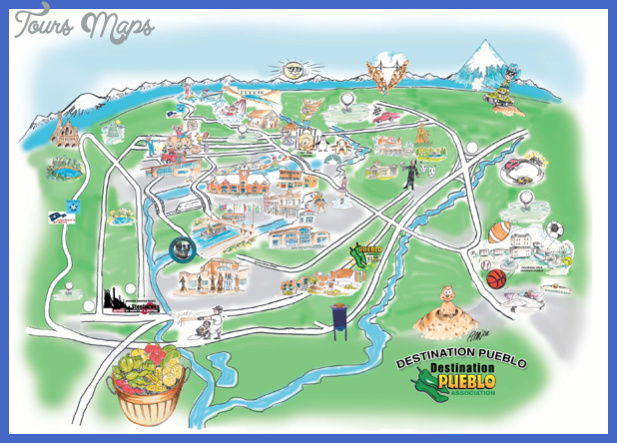 Colorado Springs Map Tourist Attractions ToursMapsCom – Colorado Tourist Attractions Map