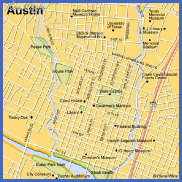 Austin Map Tourist Attractions ToursMapscom