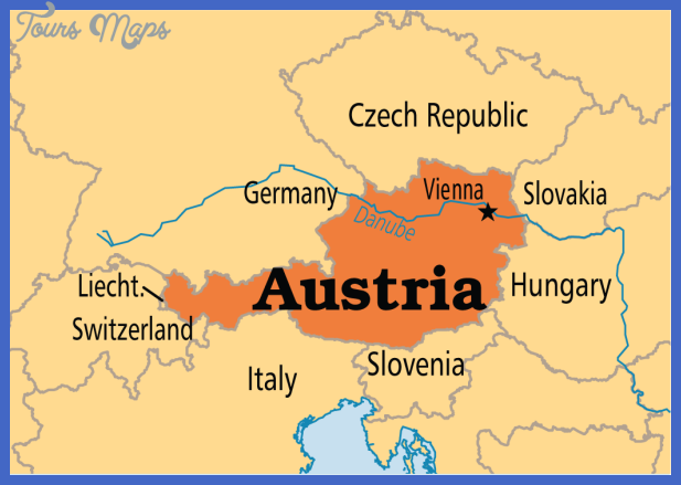 austria map map travel holiday vacations