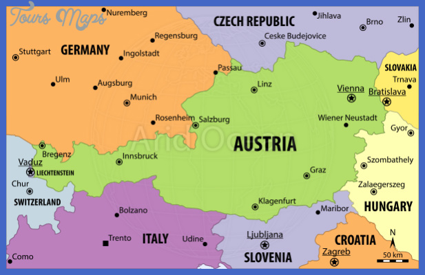 Austria Map Map Travel Holiday Vacations - Austria political map