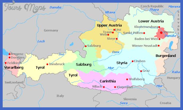 austria regions Austria Subway Map