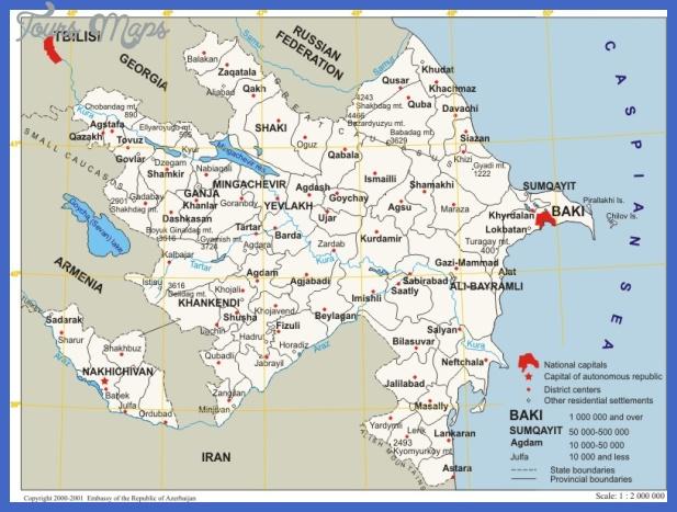azerbaijan map Azerbaijan Map