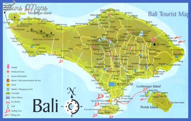 bali tourist map 1 Jakarta Map Tourist Attractions