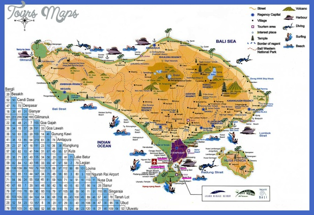 bali map tourist h Indonesia Map Tourist Attractions