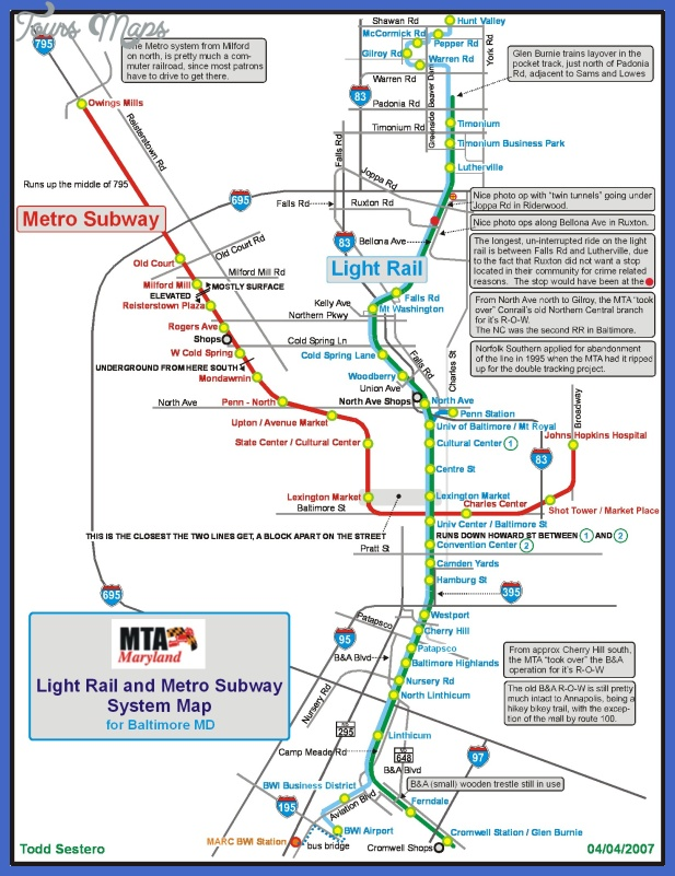 baltimore metro map  0 Baltimore Metro Map