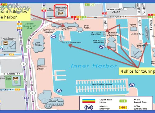 chesapeake bay attractions map Archives ToursMapsCom – Baltimore Tourist Attractions Map