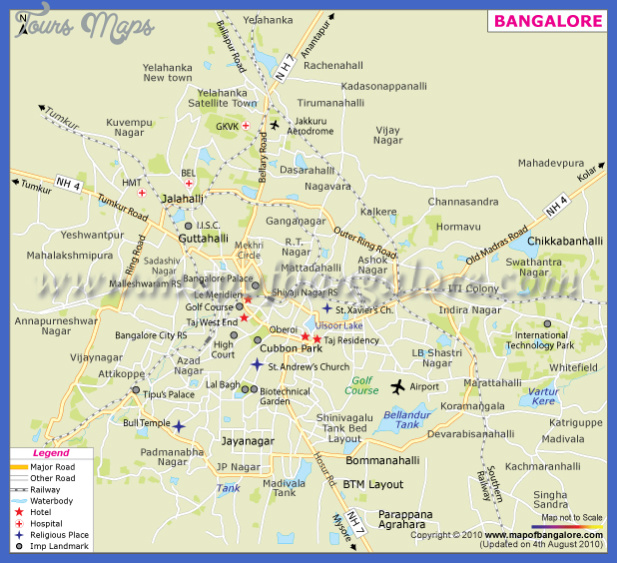 bangalore city map Bangalore Subway Map