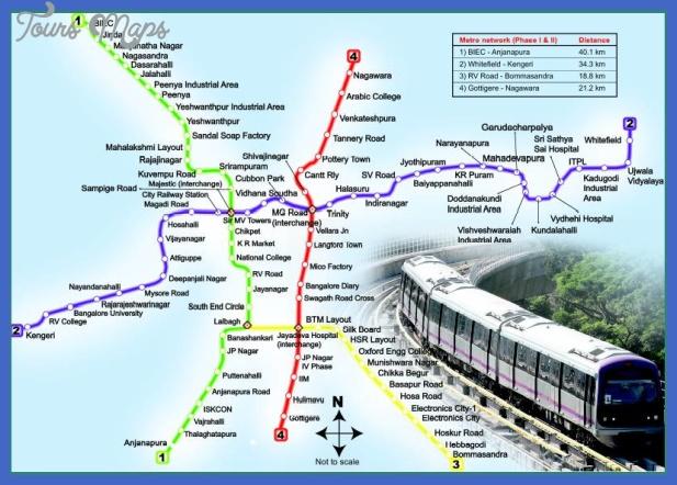 bangalore metro map  0 Bangalore Metro Map