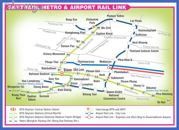 bangkok subway map  1 Bangkok Subway Map