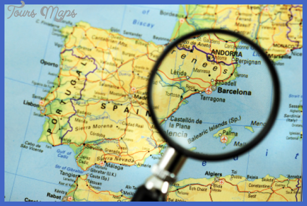barcelona map map travel holiday vacations
