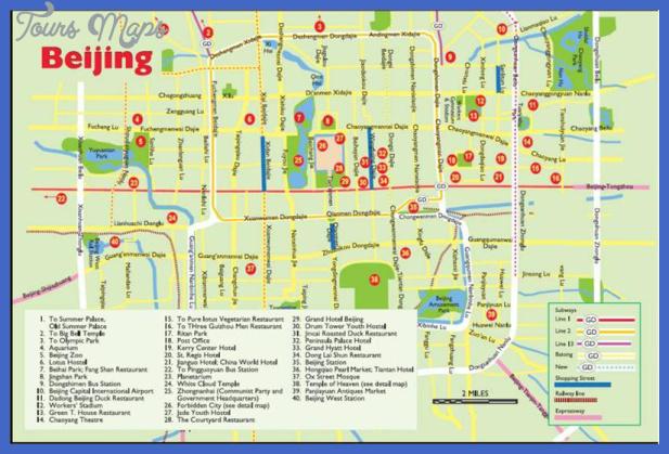 beijing map tourist attractions  0 Beijing Map Tourist Attractions