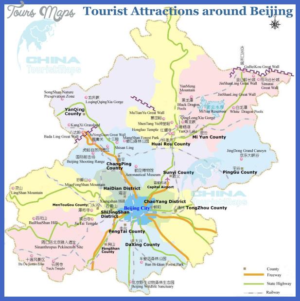 beijing tourist map around China Map Tourist Attractions