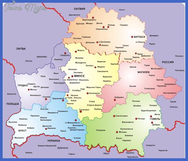 belarus map 18 Belarus Map