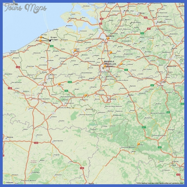 belgium map tourist attractions  11 Belgium Map Tourist Attractions