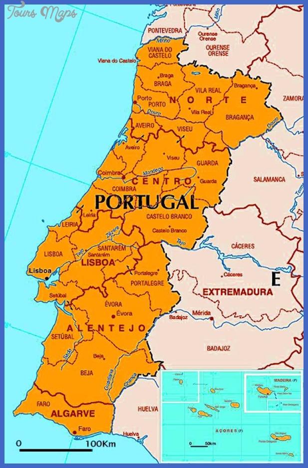Portugal Map - ToursMaps.com ®