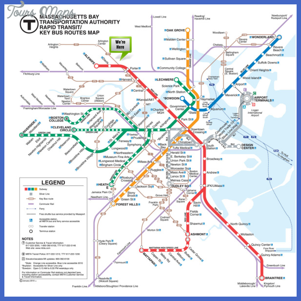 boston subway map  7 Boston Subway Map