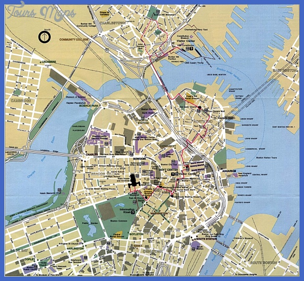boston tourist map 1 Buffalo Map Tourist Attractions