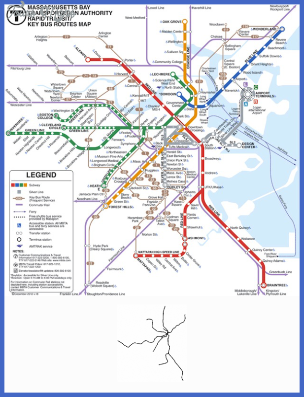 boston scale Boston Subway Map