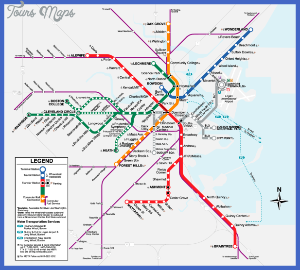 boston t map Milwaukee Subway Map