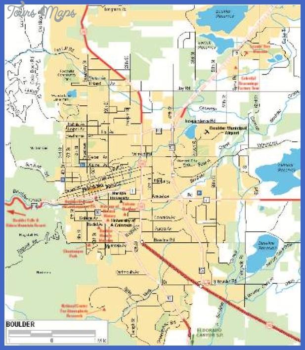 boulder 1 Colorado Springs Metro Map