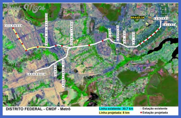 brasilia subway map  3 Brasilia Subway Map