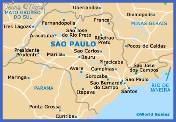 Sao Paulo Map Toursmaps Com