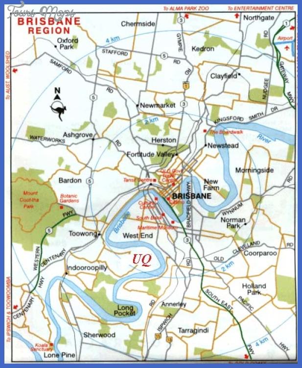 brisbane map2 Brisbane Map