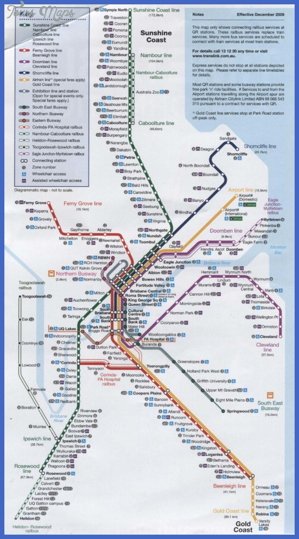 Brisbane Subway Map
