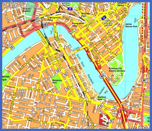 brisbane streetmap Brisbane Map