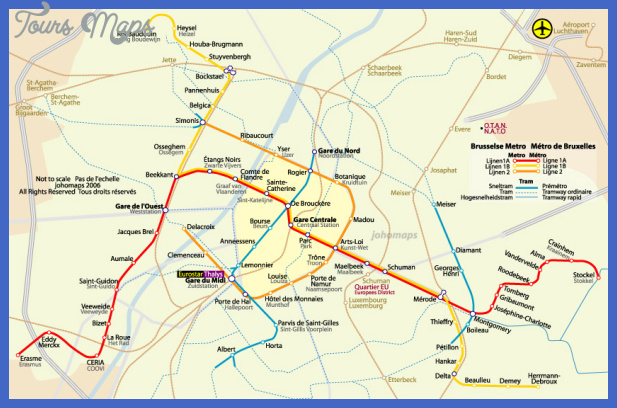 brussels metro map  7 Brussels Metro Map