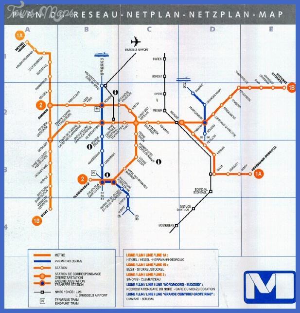 bruxelle jpg Brussels Metro Map