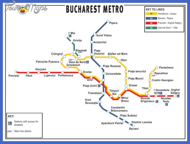 bucharest metro map Romania Subway Map