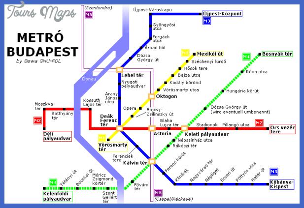 budapest subway map  0 Budapest Subway Map