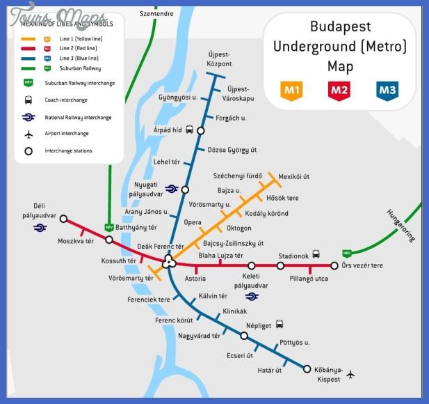 budapest subway map  1 Budapest Subway Map