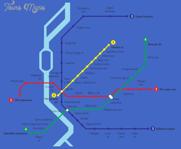 budapest metro Budapest Subway Map
