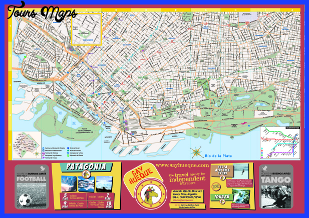 buenos aires map tourist attractions  1 Buenos Aires Map Tourist Attractions