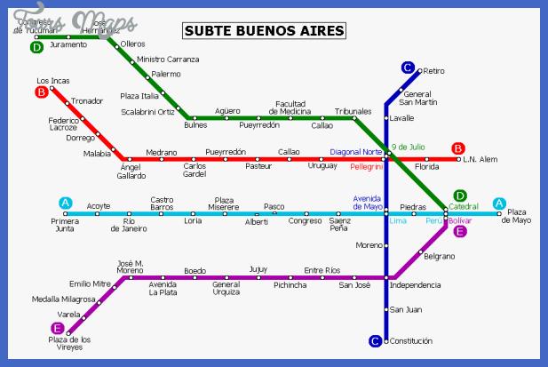 buenos aires metro map  1 Buenos Aires Metro Map