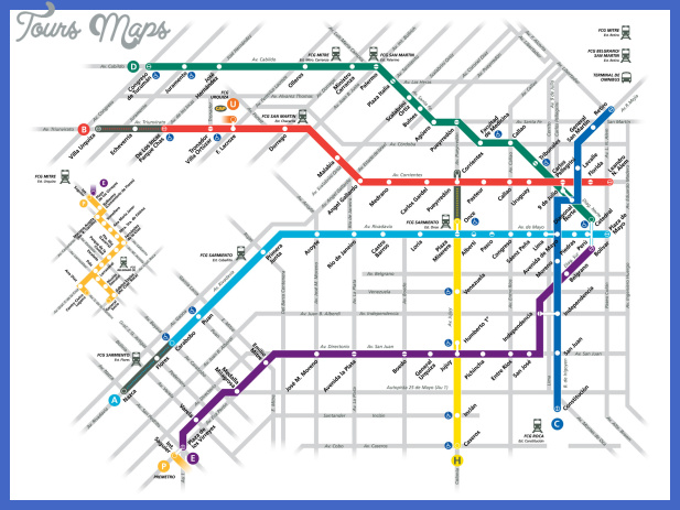 buenos aires subway metro subte mapa map Argentina Metro Map