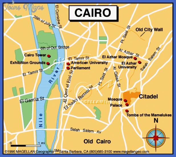 Cairo Map Tourist Attractions - ToursMaps.com ®