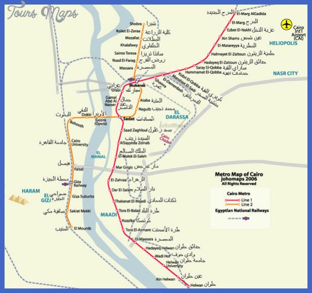 cairo metro map  1 Cairo Metro Map