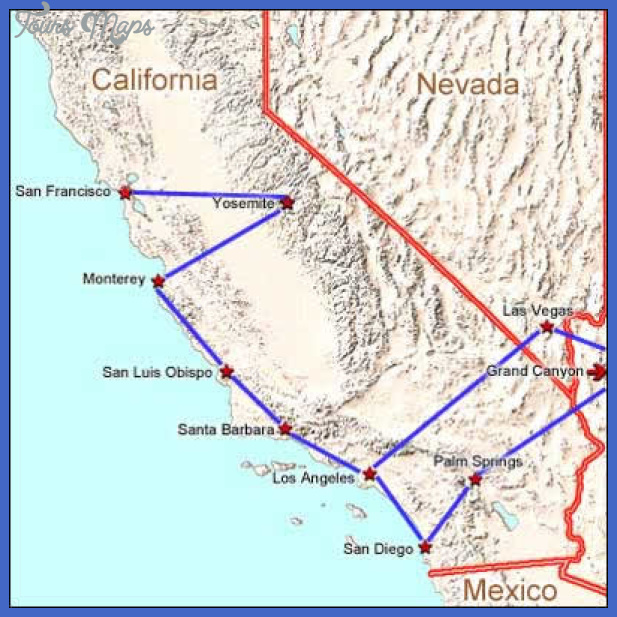 california drivingtour map Fresno Map Tourist Attractions