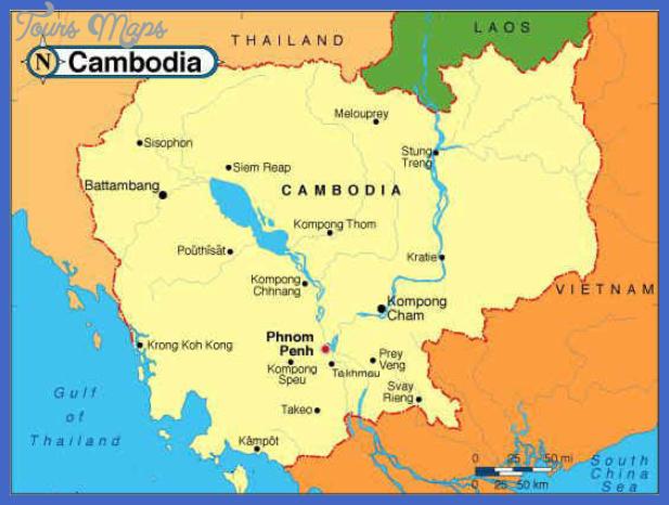 cambodia map 2 Cambodia Map
